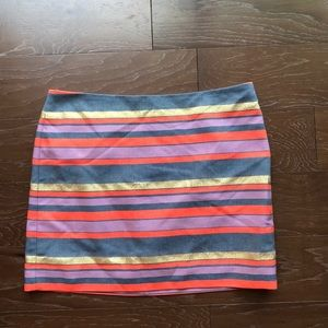 J crew mini striped skirt size 10 NWT